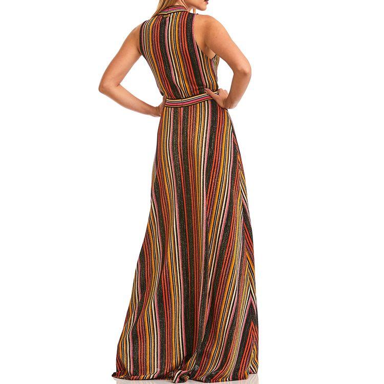 Vestido-Longo-Lurex-Listrado